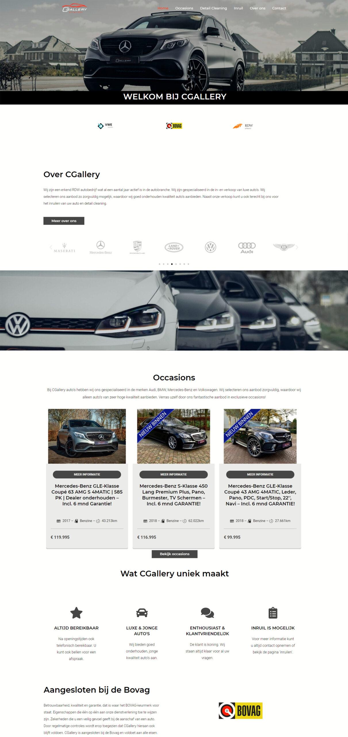 Website laten maken cgalleryautomotive