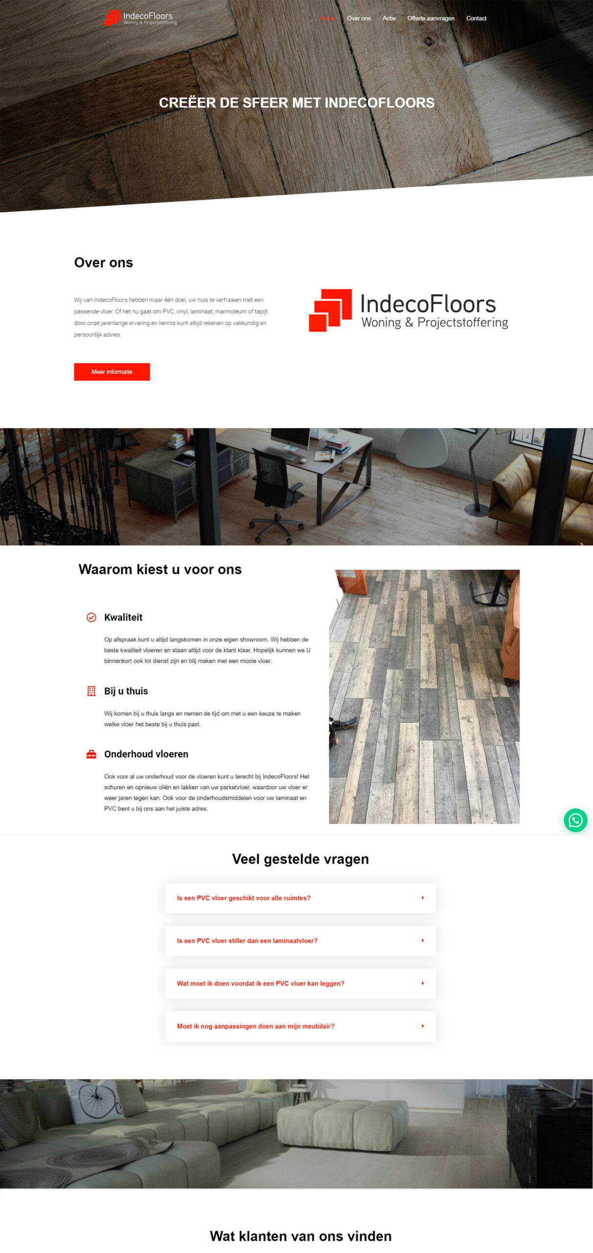 indecofloors home page