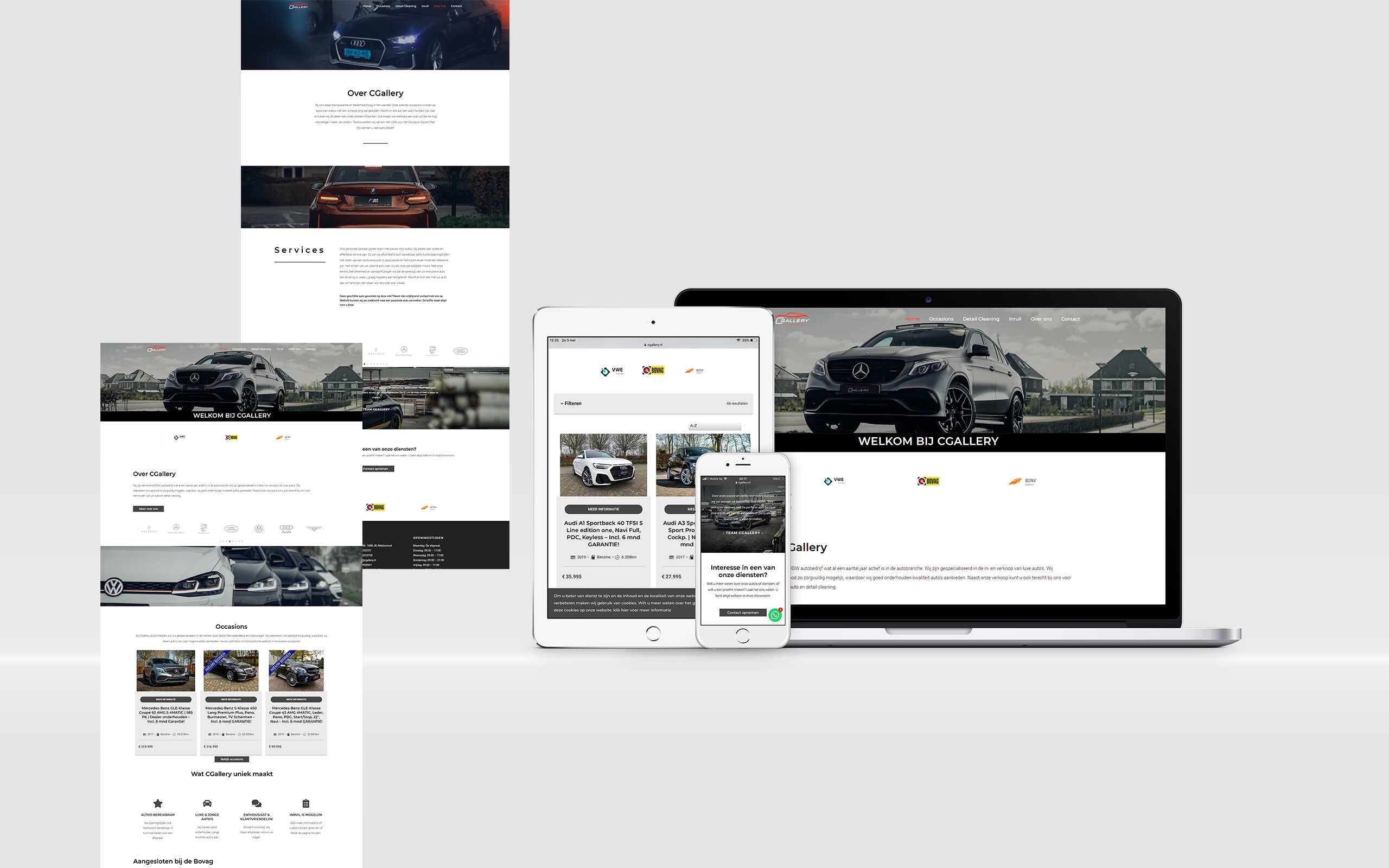 Website laten maken cgallery automotive