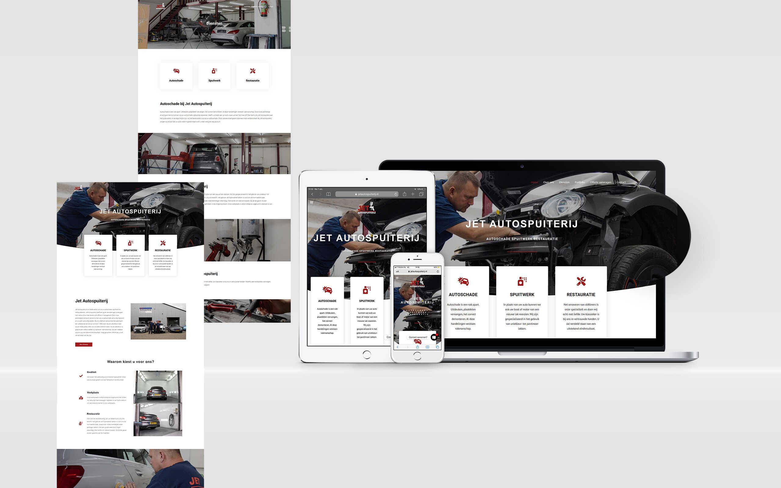 Website laten maken jet autospuiterij